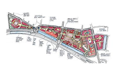Plaza Mexico Sketch public-private benefit Goodale Architecture