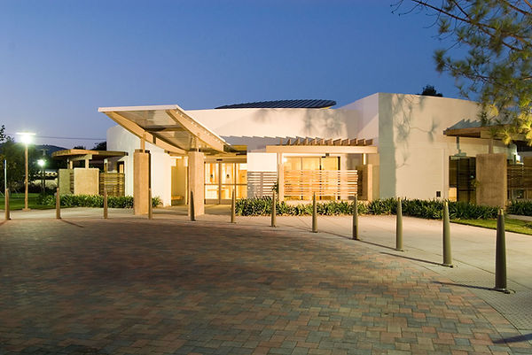 Simi Valley senior center architecture with motor court