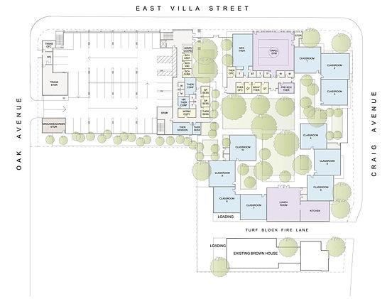 site plan school for autistic children
