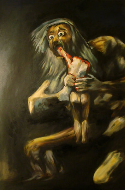 Goya's Saturn Devouring His Son:  America's houses, cars, and the unsustainable future