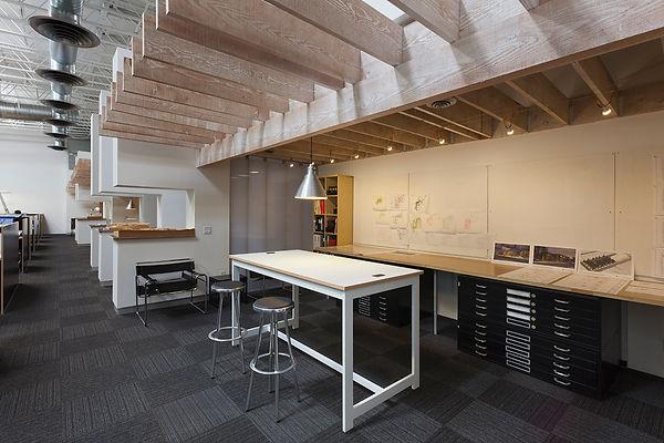 architectural studio David Goodale AIA work library