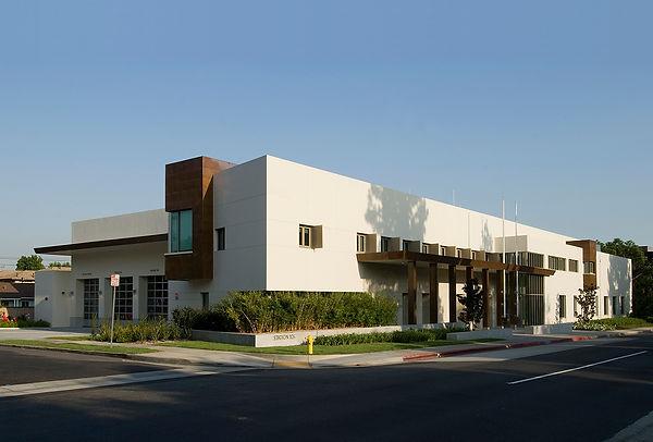 Arcadia Fire Station Santa Anita view, Goodale, civic architecture