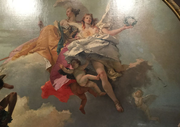 Tiepolo detail Nobility and Virtue on Cloud Nine