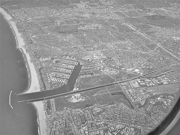 The desolation of Los Angeles from the air, as Tokyo after the Allied bombing; Goodale Architecture Planning