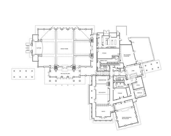community senior center dynamic, flexible multi-entry floor plan