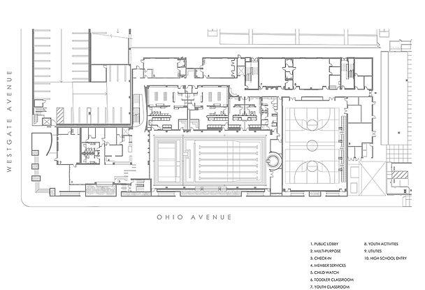 westside ymca floor plan