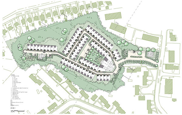 townhomes introducing density in suburbs architectural site plan