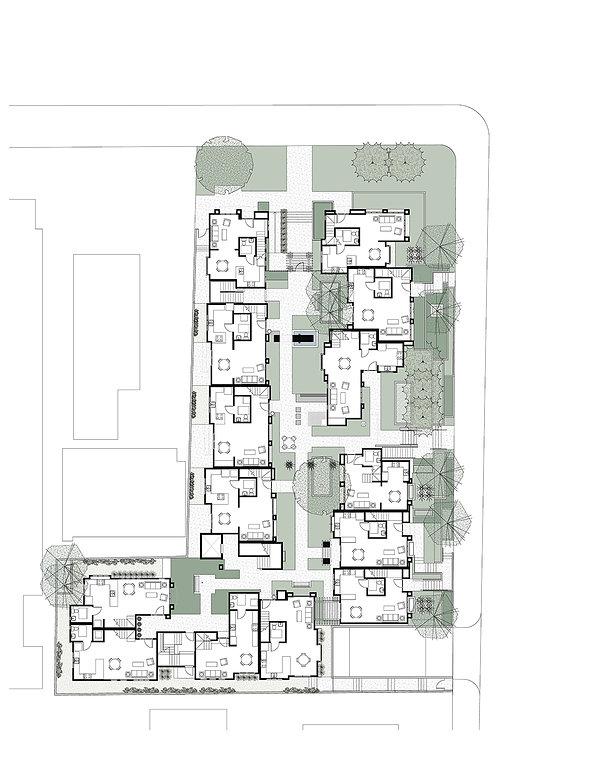 Paasadena courtyard housing site plan