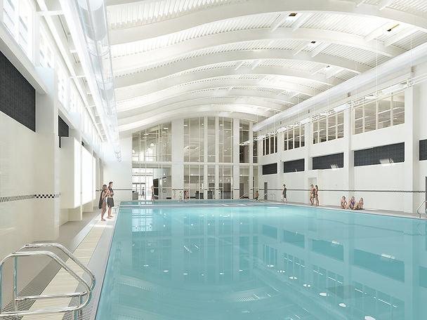 ymca natatorium swimming pool grand interior architectur