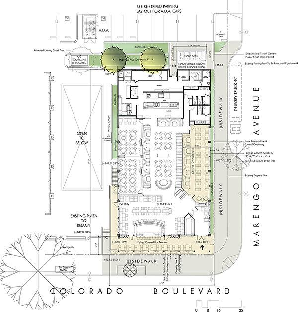 Flemings restaurant floor plan Pasadena