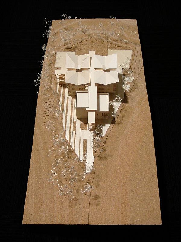 Wood Model Flexible Academic Building, LAUSD, David Goodale Design Partner