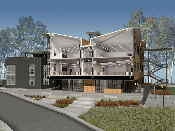LAUSD Architecture, Dynamic architectural section-perspective