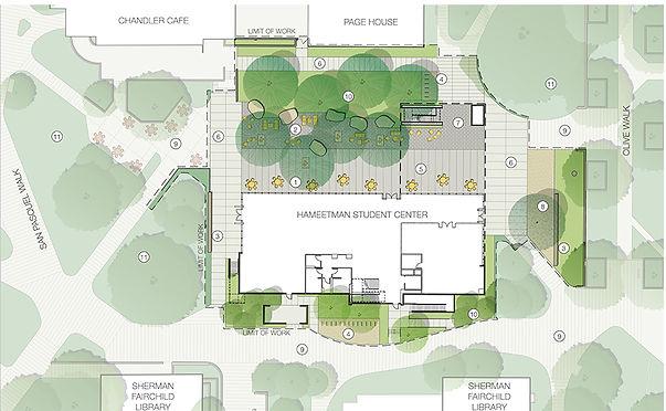 Caltech Hameetman Student Center Floor plan