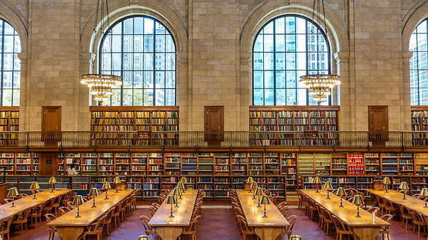 New York City Library; the presence, context, canon of the book