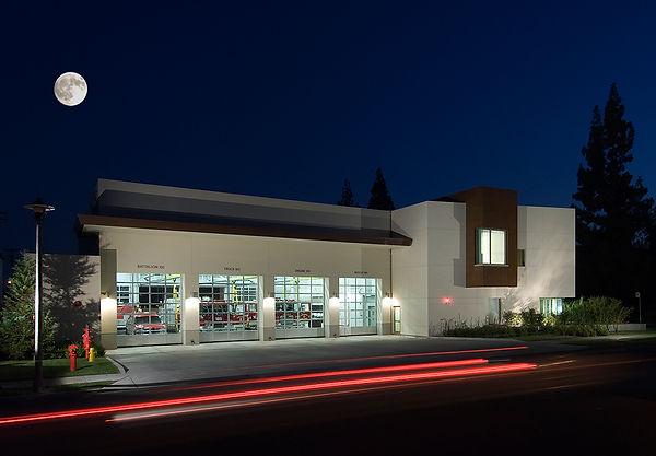 Arcadia Fire Staton, apparatus room, Goodale Architecture Planning