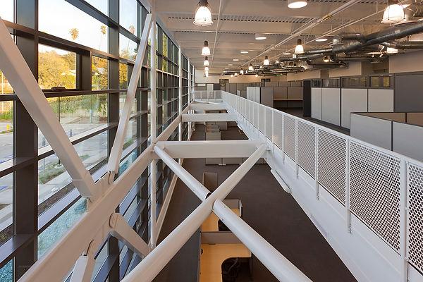 Braced frame interior architecture, daylit space