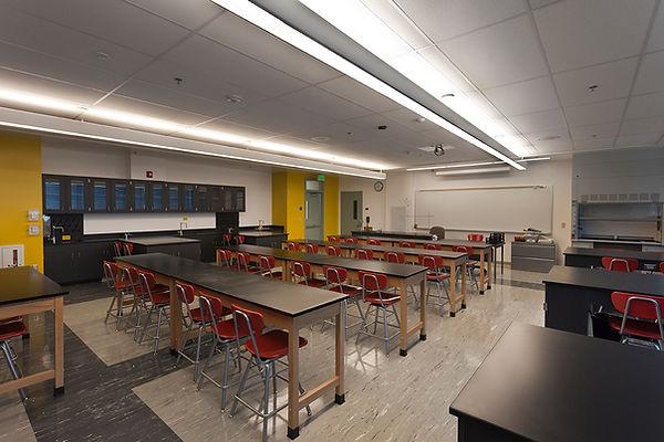 High school science lab interior architecture