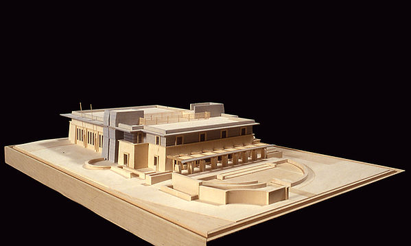 Caltech fire station architectural wood model