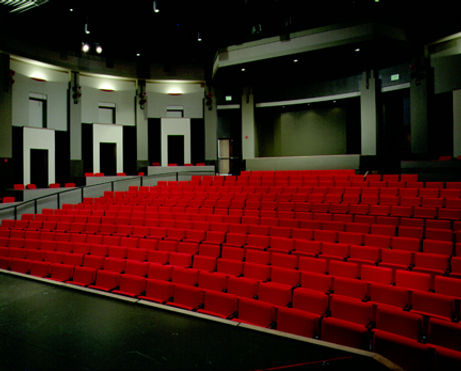 community college economical small theatre architecture with side box seats