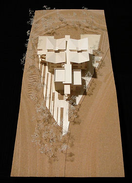 LAUSD Flexible Academic Building First Award Site Model David Goodale Architecture