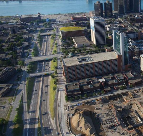 Freeways sliced through Detroit's Black Bottom district