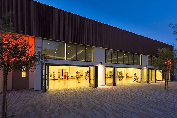 Community Center indoor-outdoor architecture folding walls