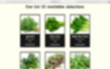Everleaf list of vegetable selection