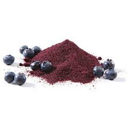 powdered blueberry fruit