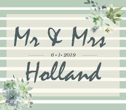 Mr. & Mrs. Holland Champagne Label
