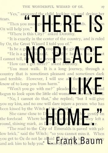 No Place Like Home Frame-able