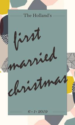 Mr. & Mrs. Holland 1st Christmas Wine Label