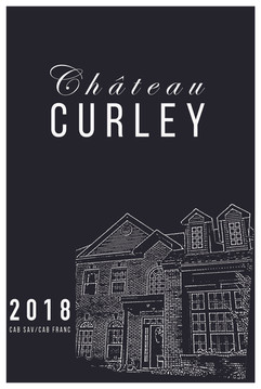 Chateau Curley Wine Label