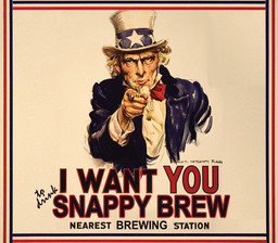 Snappy Brew Beer Label