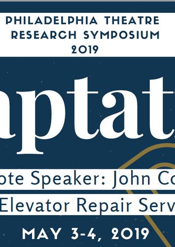Philadelphia Theatre Research Symposium Logo 2019