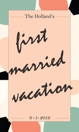 Mr. & Mrs. Holland 1st Vacation Wine Label