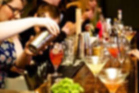 cocktail class, hen party, cocktails, bar