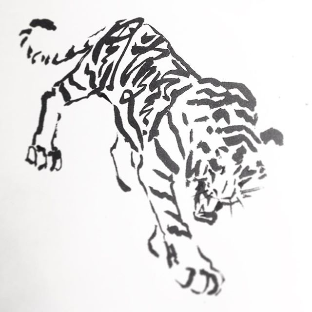 Series_tattoo collabs__Watching a tiger come to alive