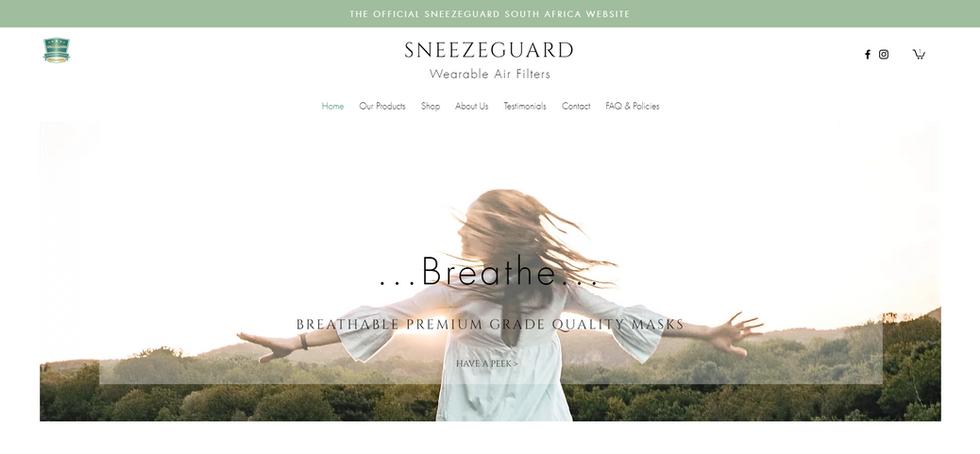 SneezeGuard South Africa Website