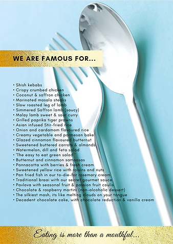 A page from the 'Hot Chefs' 6-page Company Profile.