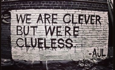 I wonder; if we are so clever, why do we act so clueless?