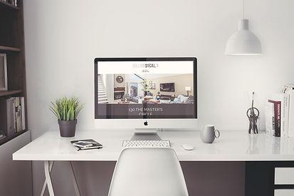 iMac 5k Retina Office Mockup with Items.
