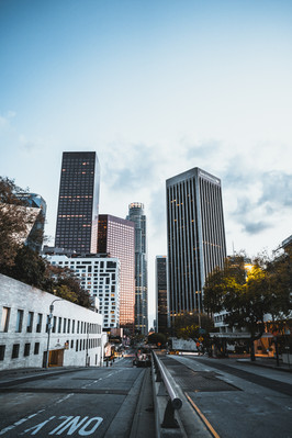 Downtown Los Angeles vacant during pandemic