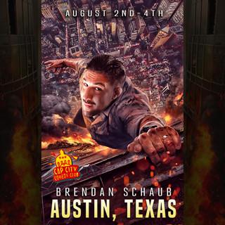 Brendan Schaub Drastic Grafix Austin Live graphic design