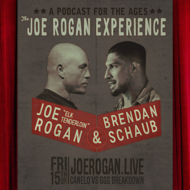 Joe Rogan Drastic Grafix Live Event Promotion Graphic Design