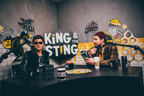 King and the Sting Photoshoot