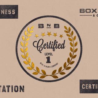 Print Advertising Design Fitness Branding Box n burn