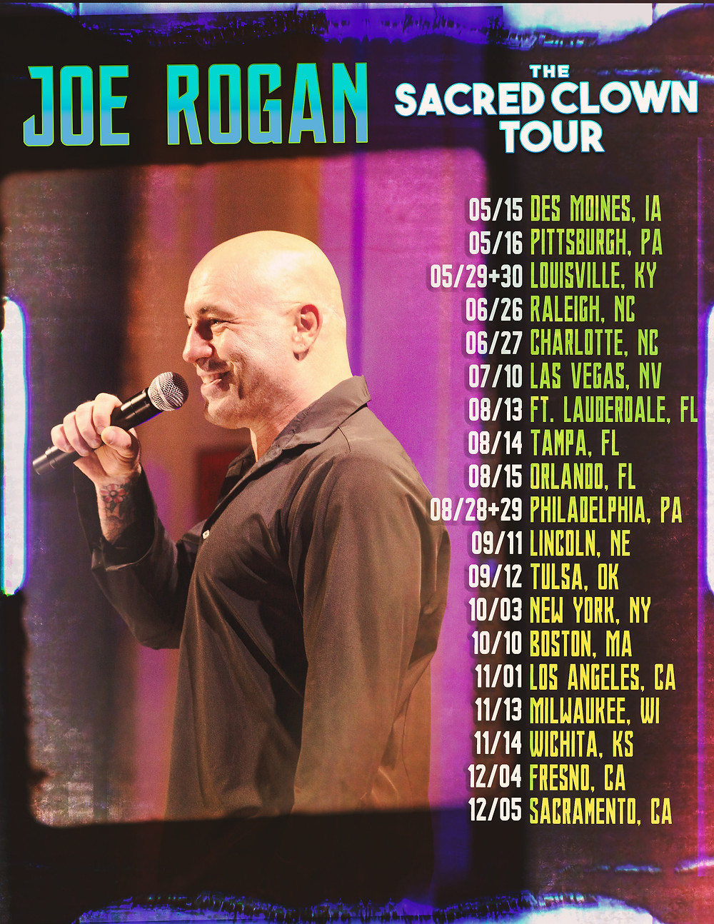 Joe Rogan Sacred Clown Tour Poster by Drastic Graphics