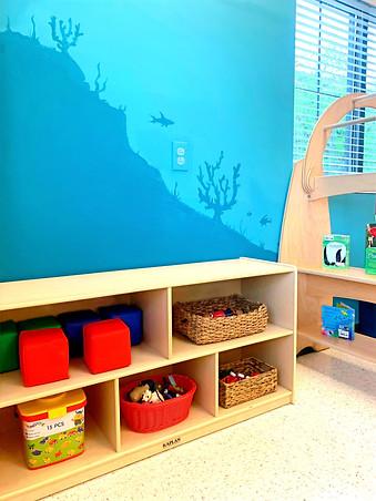 infant 2 shelves
