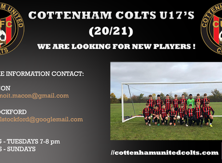 U17 looking for new players.