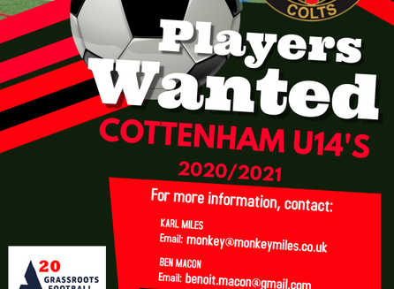 U14 Looking for new players